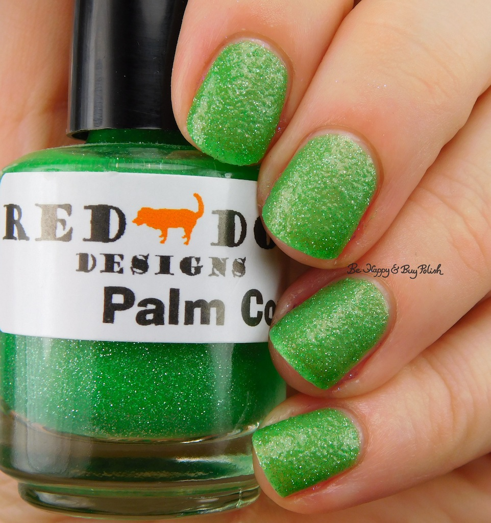 Red Dog Designs Palm Cove nail polish swatch + review