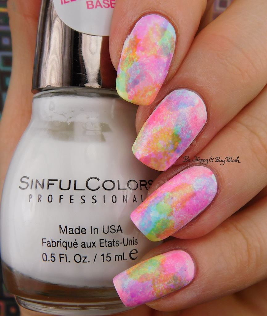 Sinful Colors Neon splotch manicure with houndstooth design | Be ...