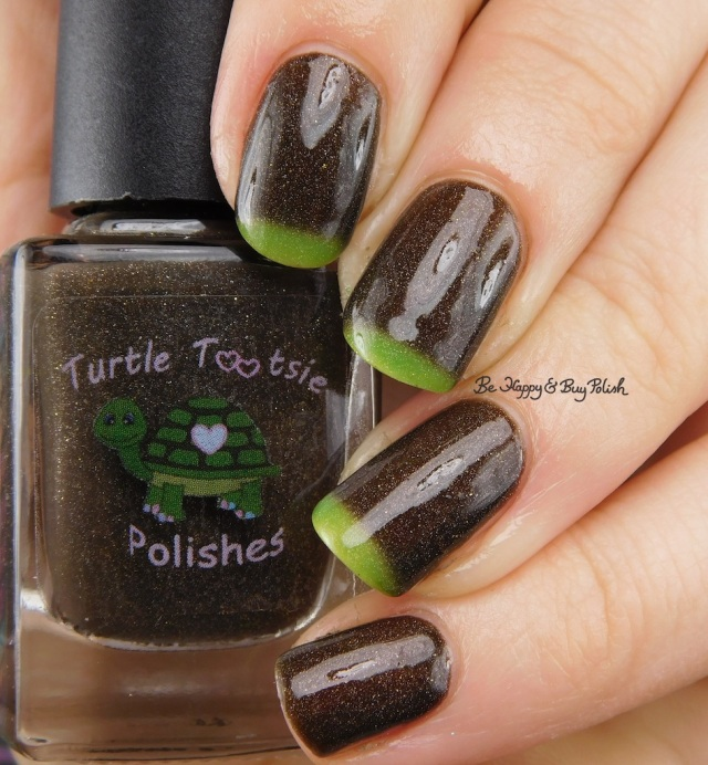 Turtle Tootsie Polishes Frankenstein's Mask cold to warm state | Be Happy And Buy Polish