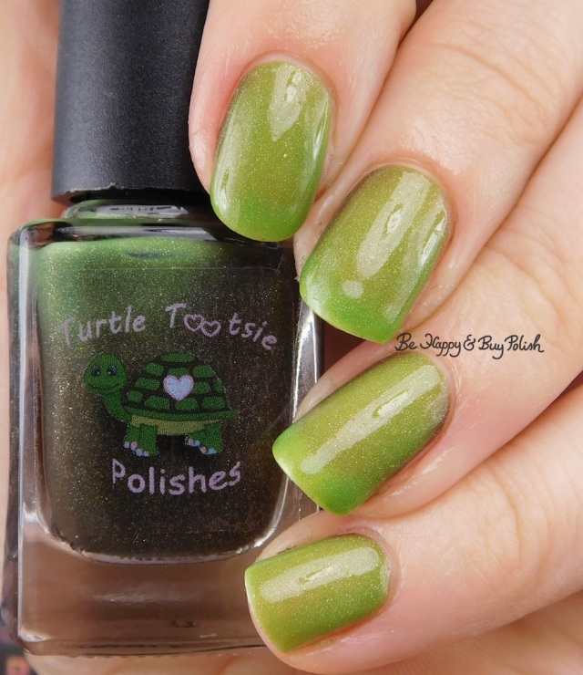 Turtle Tootsie Polishes Frankenstein's Mask warm state | Be Happy And Buy Polish