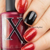 Manicure with Pahlish Pianos Filled With Flames, Baroness X Magma, JulieG Black Sheep