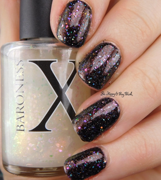 Baroness X Panty Dropper, CrowsToes Nail Color Triple Black Diamond, BlackHeart Beauty black holographic | Be Happy And Buy Polish