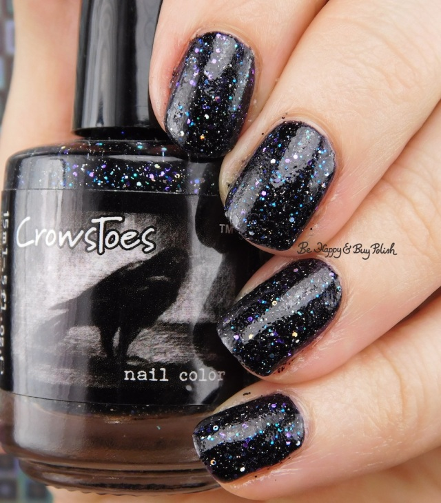 CrowsToes Nail Color Triple Black Diamond, BlackHeart Beauty black holographic | Be Happy And Buy Polish