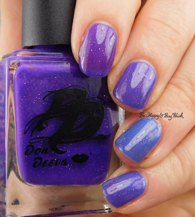 Don Deeva Varnish Notorious PEE cold to warm transition state | Be Happy And Buy Polish