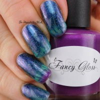 Thermal Flame Drag Marble manicure with Polish 'M and Fancy Gloss
