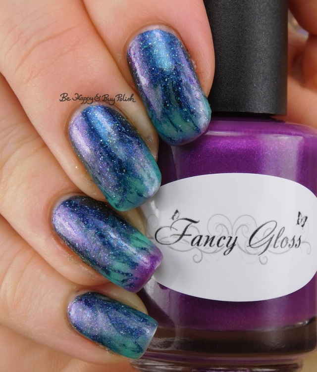 Fancy Gloss Calypso's Curse, Polish 'M The Haunted Mask thermal flame drag marble | Be Happy And Buy Polish