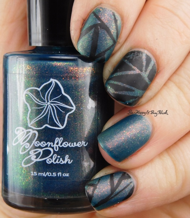 Moonflower Polish A Million Thoughts with black and matte top coat | Be Happy And Buy Polish