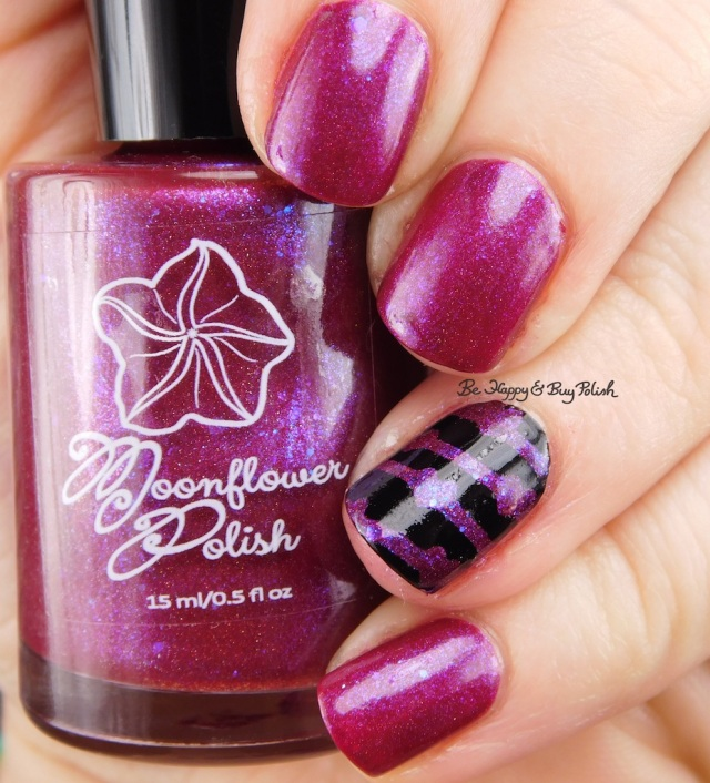 Moonflower Polish Heart and Soul over black | Be Happy And Buy Polish