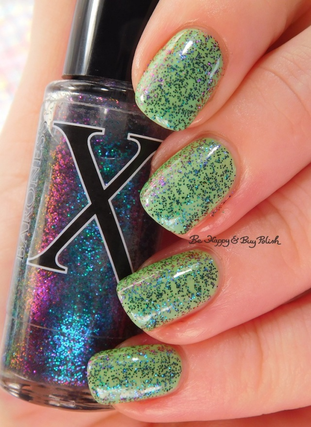 Baroness X I Love Hue over Octopus Party Nail Lacquer The Algae-atic Sea color shift | Be Happy And Buy Polish
