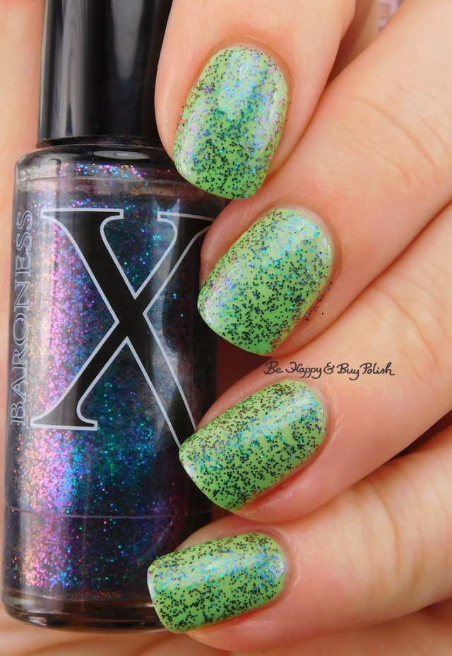 Baroness X I Love Hue over Octopus Party Nail Lacquer The Algae-atic Sea | Be Happy And Buy Polish