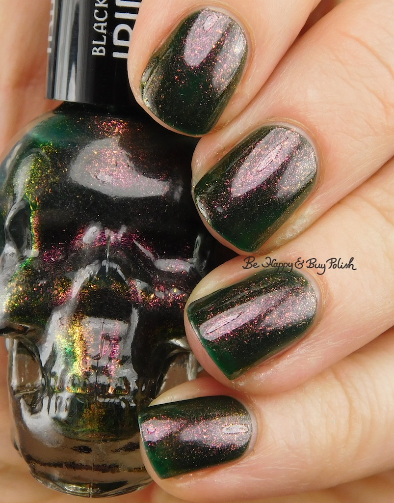 Blackheart Beauty Oil Slick Iridescent nail polish swatch + review ...