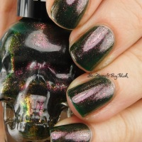 Blackheart Beauty Oil Slick Iridescent nail polish swatch + review