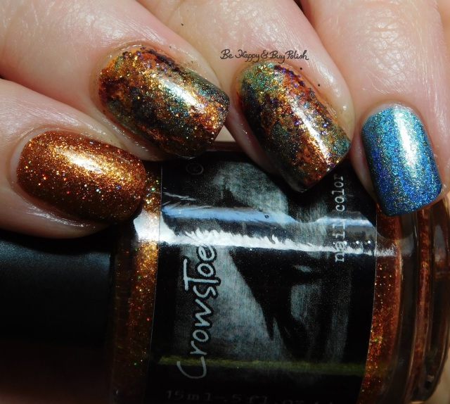 CrowsToes Nail Color Buck You, An Edgy Ocean Dream, Polish 'M Tangelo, China Glaze Howl You Doin low light | Be Happy And Buy Polish