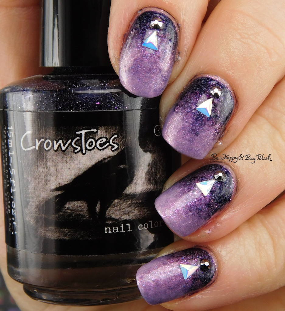 The Nail Art And Beauty Diaries: Gem + Gradient Nail Art With CrowsToes Nail Color, Nicole