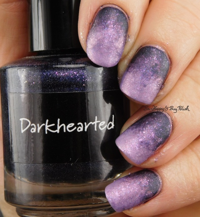 CrowsToes Nail Color Sweet Evil, Darkhearted gradient with matte top coat | Be Happy And Buy Polish