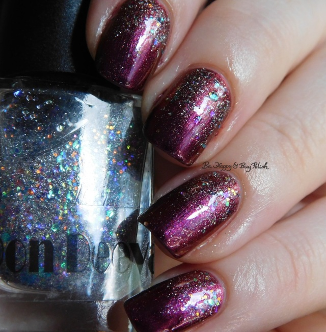 Don Deeva Varnish Silvia Sylveon Bernstein over Glocks and PopRocks purple shift | Be Happy And Buy Polish