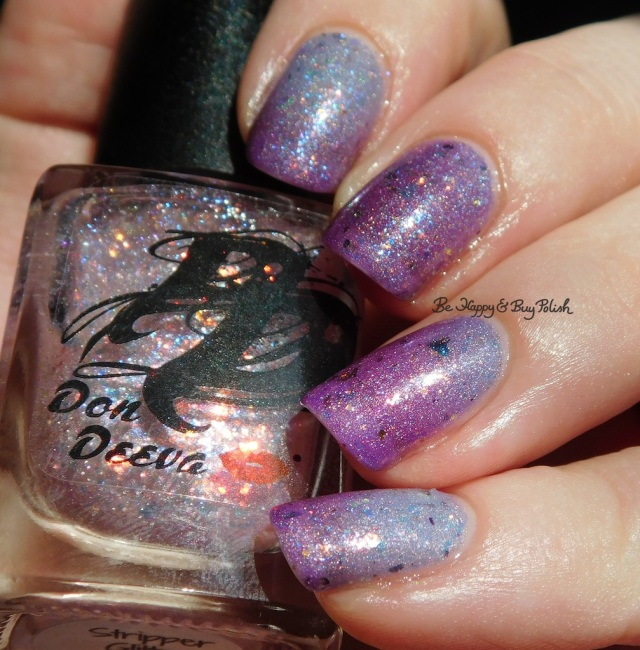 Don Deeva Varnish Stripper Glitter over Box Office Bitch cold state holographic close up | Be Happy And Buy Polish