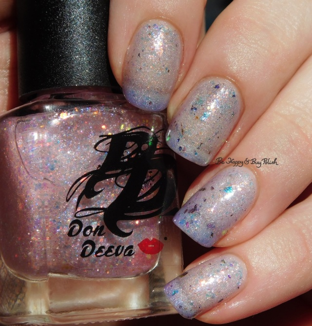 Don Deeva Varnish Stripper Glitter over Box Office Bitch holographic | Be Happy And Buy Polish