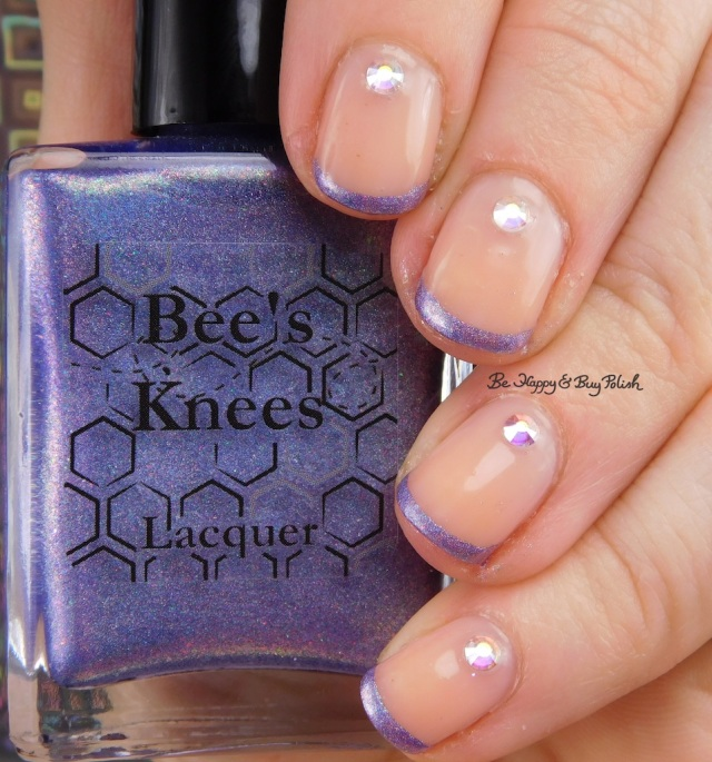 french tip manicure with Sally Hansen Rosy Quartz, Bee's Knees Lacquer Uni-Cornucopia   Be Happy And Buy Polish
