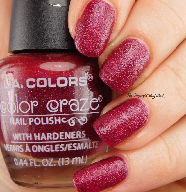 LA Colors Color Craze Backstage Textured Metal Finish   Be Happy And Buy Polish
