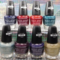 L.A. Colors Color Craze Textured Metal Finish nail polish collection