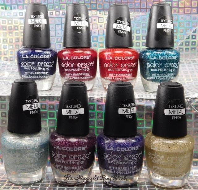 LA Colors Textured Metal Finish nail polish collection   Be Happy And Buy Polish