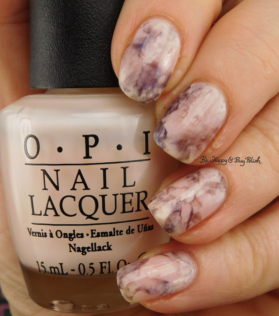 Marble nail art manicure with OPI nail polish | Be Happy and Buy Polish