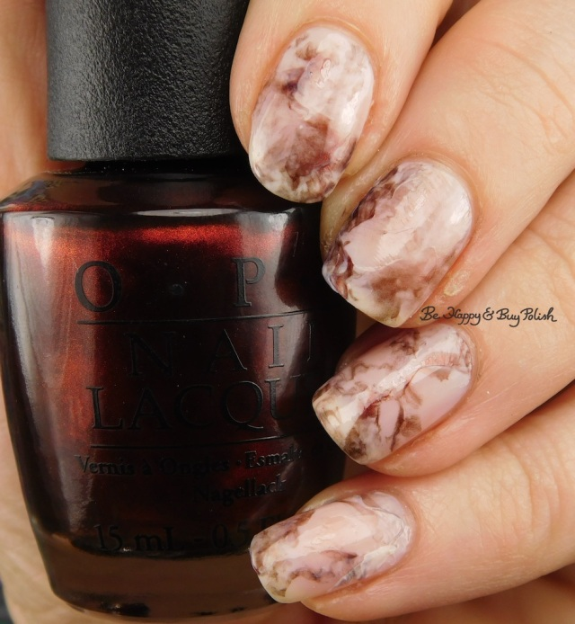 OPI Germanicure, Don't Burst My Bubble marble nail art | Be Happy And Buy Polish