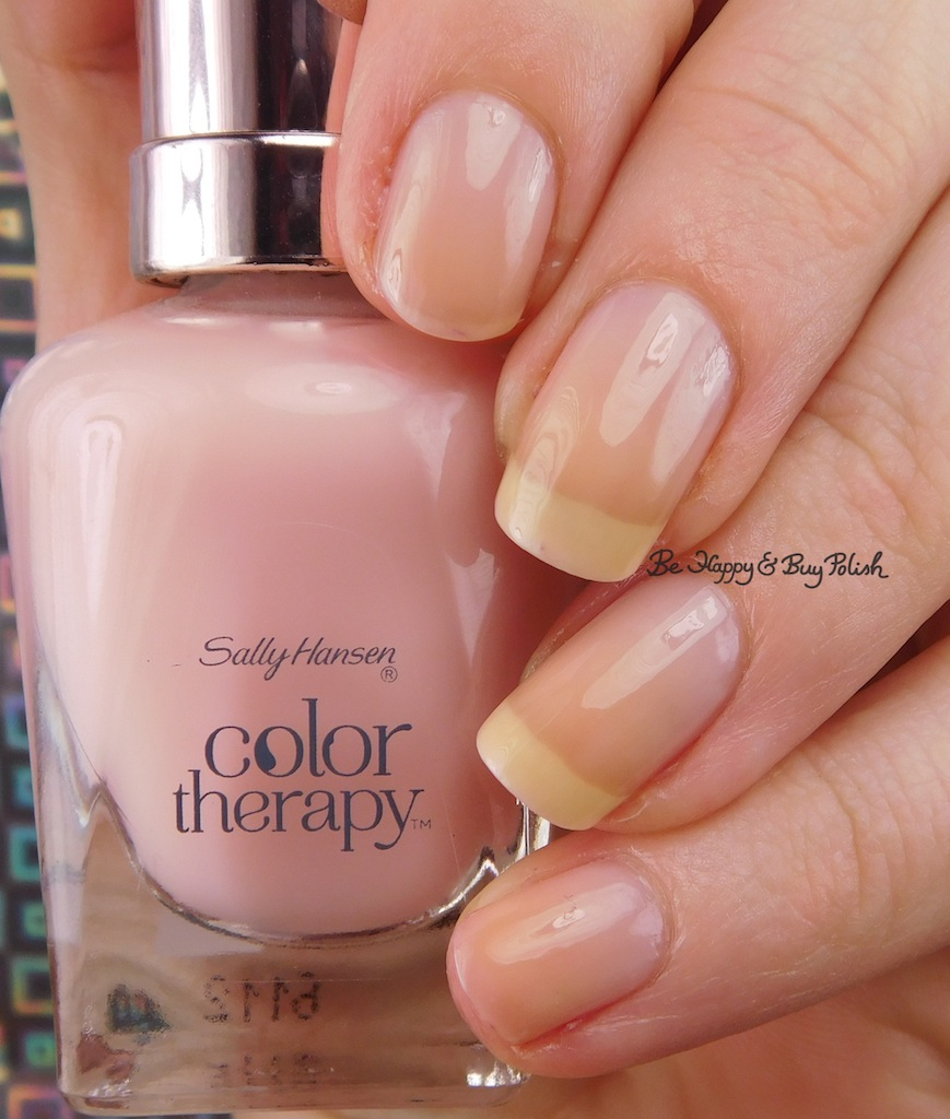 Slanted French manicure with Sally Hansen and ILNP   Be Happy and ...