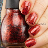 Sinful Colors Halloween 2017 Undead Red + Bite Me nail polish swatches + review