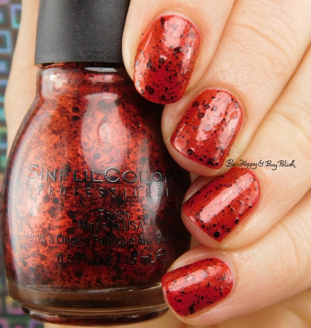 Sinful Colors Bite Me over Undead Red | Be Happy And Buy Polish