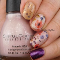 Flowery skittlette manicure with Sinful Colors, Pahlish, and KBShimmer