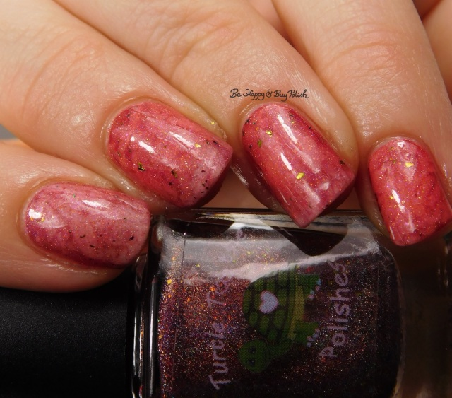 Turtle Tootsie Polishes Just Around the Bend, Polish 'M Danvers close up | Be Happy And Buy Polish