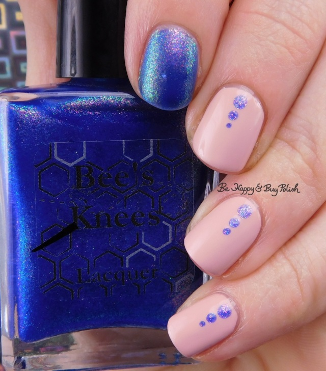 Bee's Knees Lacquer House on Haunted Chill, LA Colors Color Craze Blushed dots nail art | Be Happy And Buy Polish