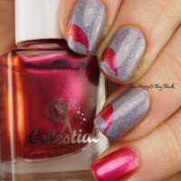 Manicure with Octopus Party Nail Lacquer, Celestial Cosmetics, Polished Vino