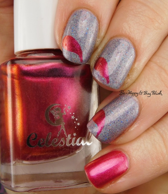 Celestial Cosmetics Daria Zaldrizoti, Octopus Party Nail Lacquer Crepuscular, Polished Vino Raindrops vinyls | Be Happy And Buy Polish