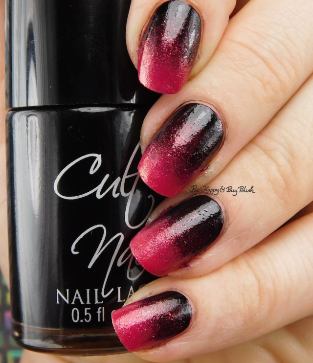 Cult Nails Nevermore, China Glaze Ahoy! gradient | Be Happy And Buy Polish