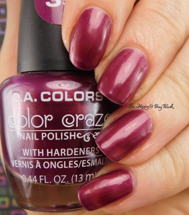 LA Colors Color Craze Mulberry   Be Happy And Buy Polish
