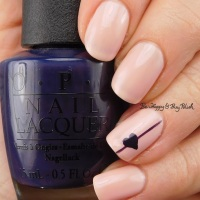 Heart Nail Art with OPI nail polish