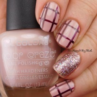 Plaid Nail Art with L.A. Colors Color Craze nail polishes
