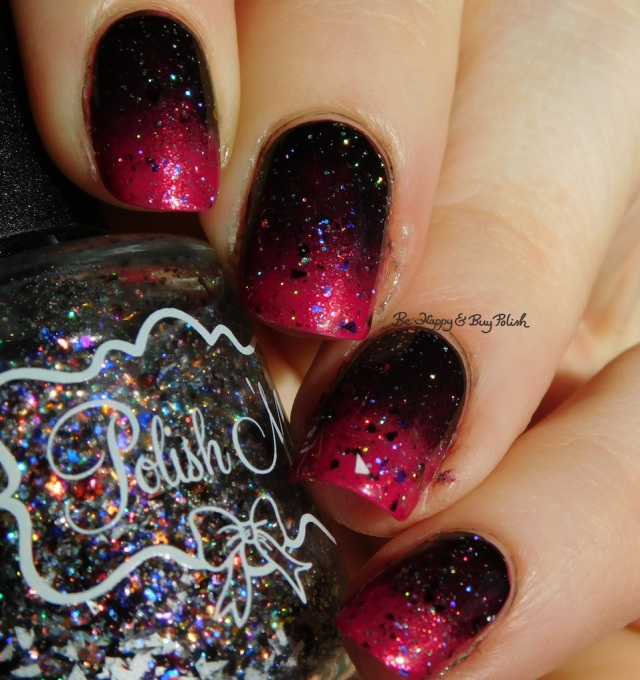 Polish 'M Waverly Hills, Cult Nails Nevermore, China Glaze Ahoy! gradient holographic | Be Happy And Buy Polish