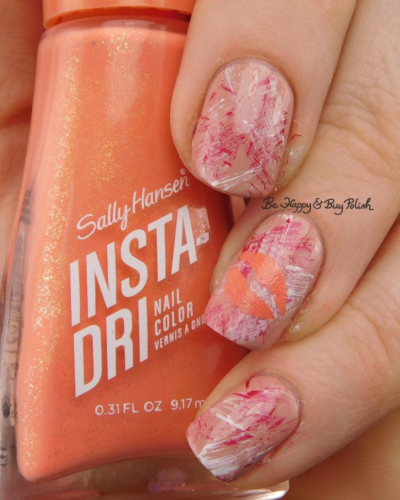 Valentine\'s Day Nail Art with Sally Hansen Insta-Dri nail polish ...