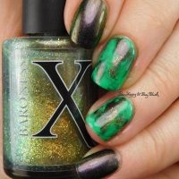 St. Patrick's Day mani with Celestial Cosmetics, Polish 'M, Baroness X