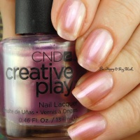 CND Creative Play Pinkidescent nail polish swatch + review