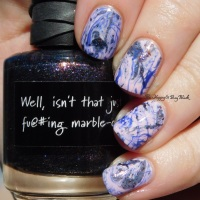 Spotted Watermarble nail art with CrowsToes Nail Color and Sinful Colors