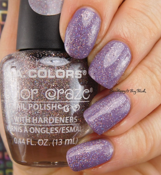 LA Colors Color Craze Icicles over Plum Smoke | Be Happy And Buy Polish