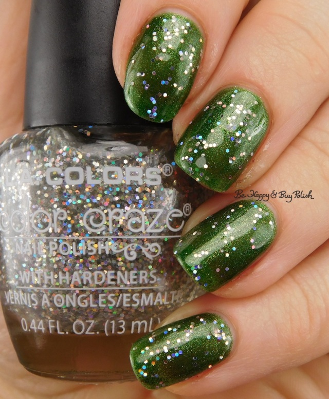 LA Colors Color Craze Icy over Crown Jewel | Be Happy And Buy Polish