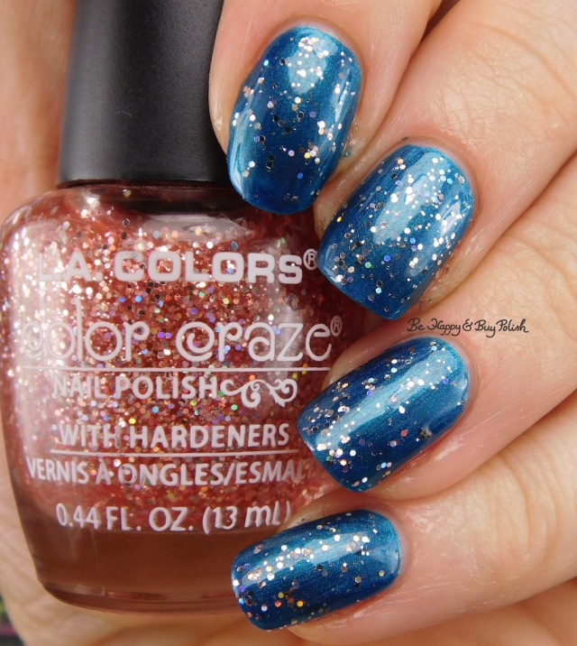 LA Colors Color Craze Princessy over Pacific Blue | Be Happy And Buy Polish