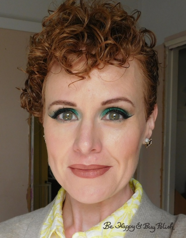 makeup for redheads with Urban Decay Hatter, Saucebox Cosmetics Jade | Be Happy And Buy Polish