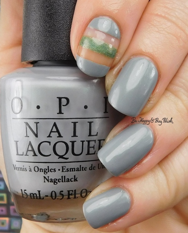 OPI Polish I Can Never Hut Up, Bad Bitch Polish Olive You stripe nail art | Be Happy And Buy Polish